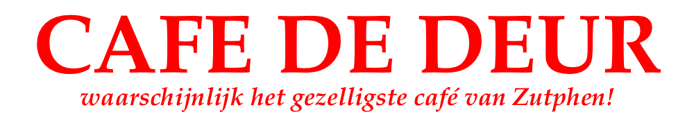 Café De Deur Logo
